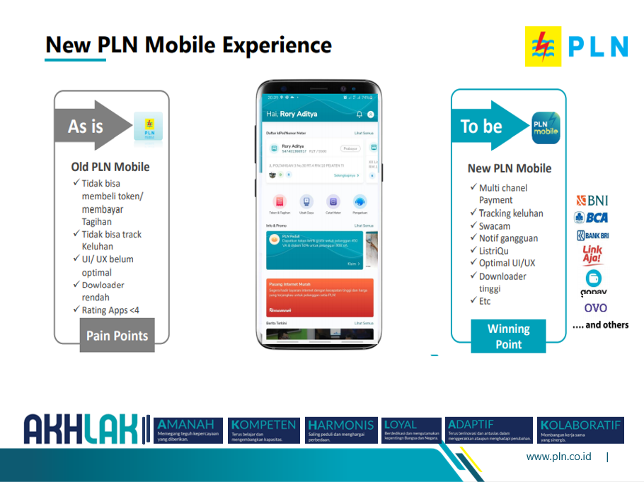 new pln mobile experience